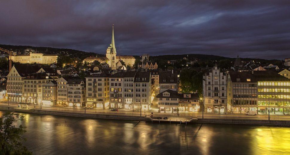 Прогулка по вечернему Цюриху.