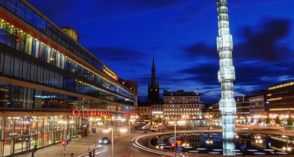 Необыкновенные фонтаны Швеции.